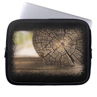 Log Cabin Textures Laptop Bag