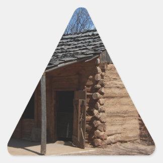 Log Cabin Triangle Sticker