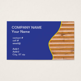 log cabin wall business card