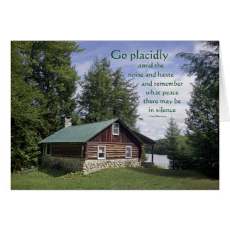 Log Cabin with Poetry Greeting Card