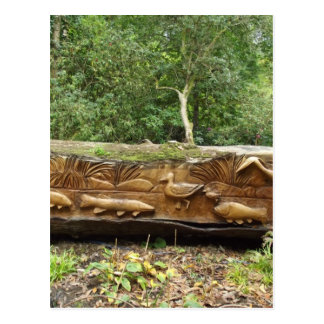 Log Carving Postcard