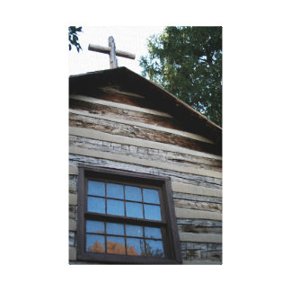 LOG CHAPEL CANVAS PRINT