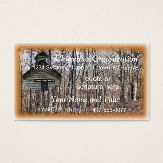 Log Church Business Card