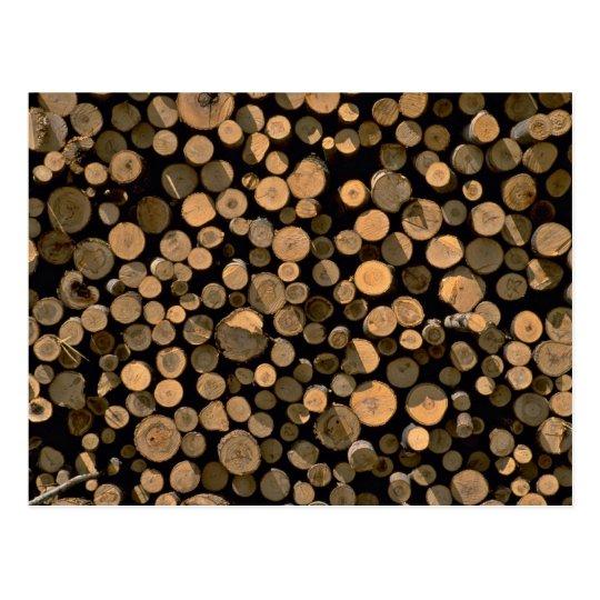 Log cord postcard