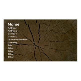 Log, cross-section business card