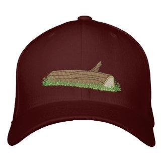 Log Embroidered Baseball Hat