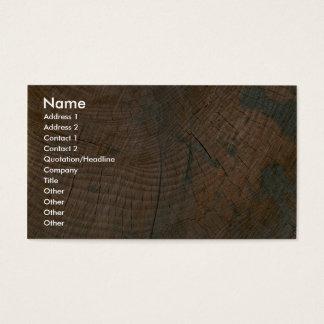 Log, grain business card