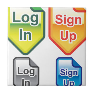 Log In Sign Up Icons Colors Tile