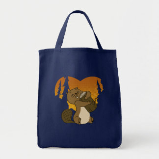 Log Lover Beaver Tote Bag
