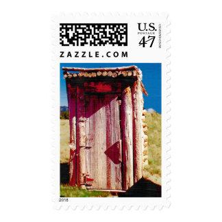 Log Nevada Outhouse USPS Postage Stamp