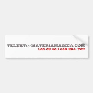 Log on Telnet - Bumper Sticker Car Bumper Sticker