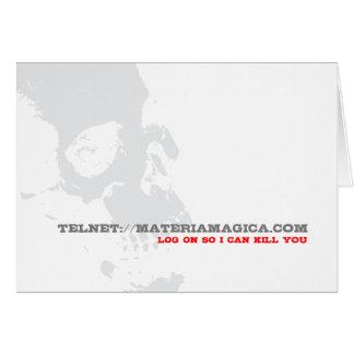 Log on Telnet - Greeting Card