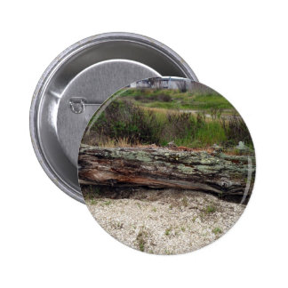 Log on the Beach Pinback Buttons