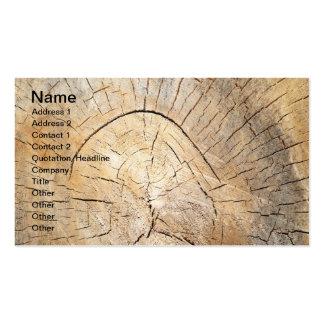 Log pattern business card templates