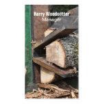 Log splitter business card