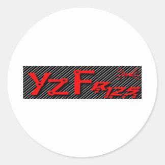 log yzf cup classic round sticker
