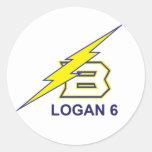 LOGAN 6 CLASSIC ROUND STICKER