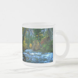 Logan Canyon River Frosted Glass Coffee Mug