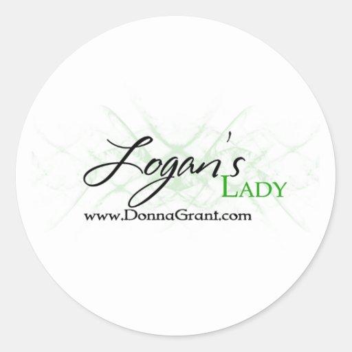 Logan Classic Round Sticker