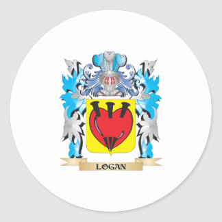 Logan Coat of Arms - Family Crest Classic Round Sticker