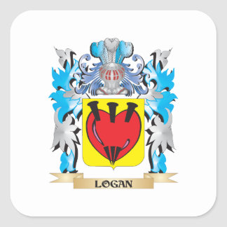 Logan Coat of Arms - Family Crest Square Sticker