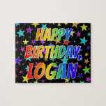 "[ Thumbnail: ""Logan"" First Name, Fun ""Happy Birthday"" Jigsaw Puzzle ]"