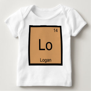 Logan names baby t shirts zazzle logan name chemistry element periodic table baby t shirt urtaz Choice Image