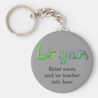 Logan Name Tag Key Chain