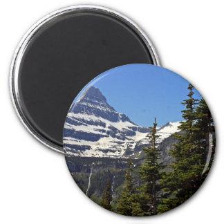 Logan Pass In Glacier National Park 2 Inch Round Magnet
