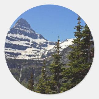 Logan Pass In Glacier National Park Classic Round Sticker