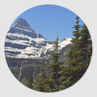 Logan Pass In Glacier National Park Round Stickers