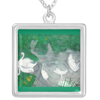 Logan Swan Silver Plated Necklace