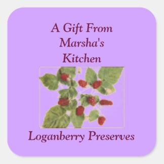 Loganberry Preserves Fruit Canning Jar Label