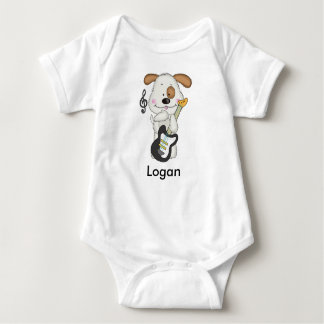 Logan's Rock and Roll Puppy Baby Bodysuit