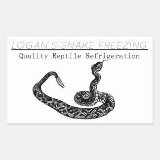 Logan's Snake Freezing Stickers