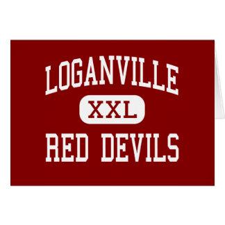 Loganville - Red Devils - High - Loganville Greeting Card