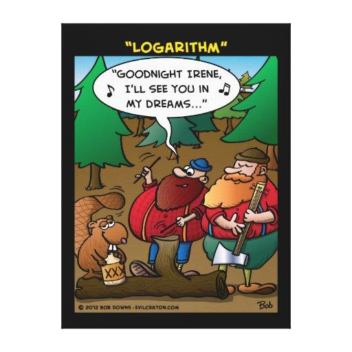 """""""Logarithm"""" Canvas Prints"""