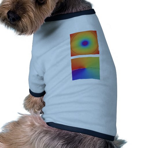 logaritmo complejo, alto camiseta con mangas para perro
