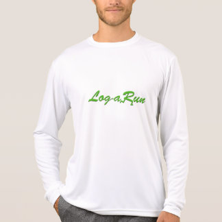 Logarun White Long Sleeve Performance T-Shirt