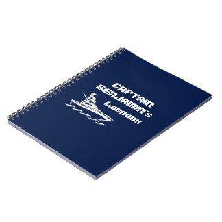 Logbook de capitán (personalizable) spiral notebook