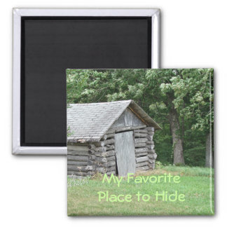 LogCabin Magnet-customize 2 Inch Square Magnet