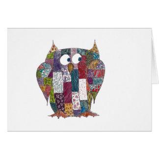 LogCabin Owl Greeting Card