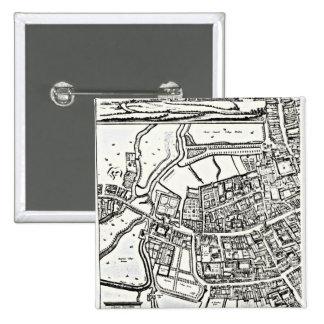 Loggan's map of Oxford, Eastern Sheet Pinback Button