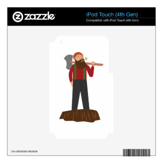 Logger Decal For iPod Touch 4G