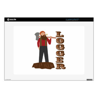 Logger Man Decal For Laptop
