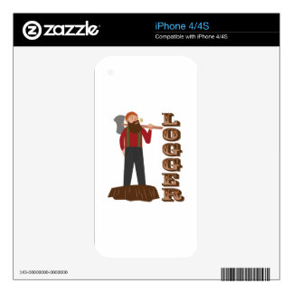 Logger Man Skin For The iPhone 4
