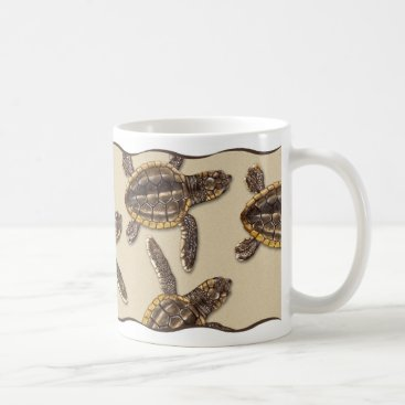 Beach Themed Loggerhead Sea Turtle Hatchling Mug