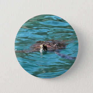 Loggerhead Sea Turtle Pinback Button