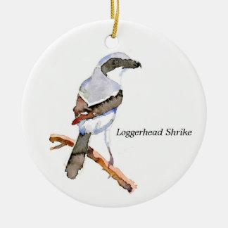 Loggerhead Shrike Ceramic Ornament