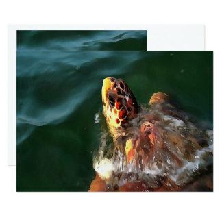 Loggerhead Turtle Card